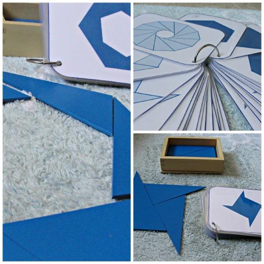 triangulos azules